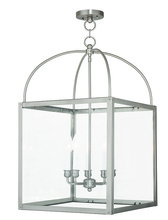 Livex Lighting 4038-91 - 5 Light Brushed Nickel Lantern
