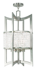 Livex Lighting 50567-91 - 4 Light Brushed Nickel Lantern