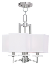 Livex Lighting 50704-91 - 4 Light BN Mini Chandelier/Ceiling Mount