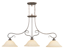 Livex Lighting 6108-58 - 3 Light Imperial Bronze Island