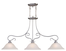 Livex Lighting 6108-91 - 3 Light Brushed Nickel Island