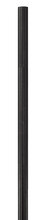 Livex Lighting 7708-04 - Black Outdoor Cast Aluminum Fluted Post