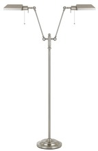 CAL Lighting BO-117FL-2L-BS - 100W x 2 dual light pharmacy floor lamp with metal shade
