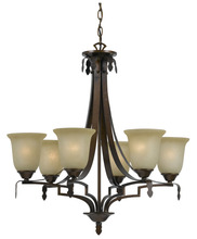 CAL Lighting FX-3506/6 - 60W X 6 DABOIS 6 LIGHT CHANDELIER