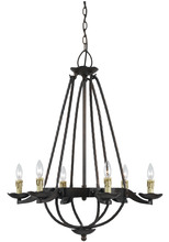 CAL Lighting FX-3511/6 - 60W X 6 MOJAVE HAND FORGED IRON 6 LIGHT CHANDELIER