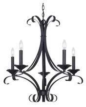 CAL Lighting FX-3520/5 - 60W X 5 AUSTIN HAND FORGED IRON 5 LIGHT CHANDELIER