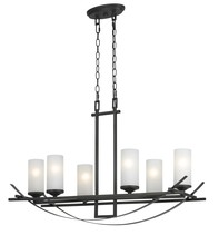 CAL Lighting FX-3534/6 - 6 LTG CALDWELL METAL CHANDELIER