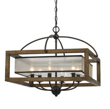 CAL Lighting FX-3536/6 - 60W X 6 SQUARE CHANDELIER