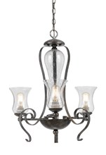 CAL Lighting FX-3548/3 - 60W X 3 METAL 3 LIGHT CHANDELIER