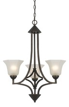 CAL Lighting FX-3551/3 - 60W X 3 METAL 3 LIGHT CHANDELIER