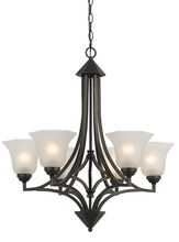 CAL Lighting FX-3551/6 - 60W X 6 METAL 6 LIGHT CHANDELIER