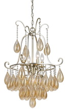 CAL Lighting FX-3591-5 - 60W X 5 MARION GLASS CHANDELIER