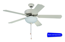 "Craftmade C201AW - Pro Builder 201 52"" Ceiling Fan with Light in Antique White (Blades Sold Separately)"