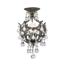 Crystorama 5193-EB-CL-SAQ_CEILING - Crystorama Legacy 3 Light Clear Spectra Crystal Bronze Ceiling Mount