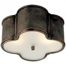 Visual Comfort AH 4014GM-FG - Basil Small Flush Mount in Gun Metal with Froste