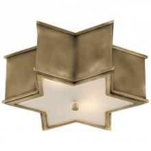Visual Comfort AH 4016NB-FG - Sophia Small Flush Mount in Natural Brass with F