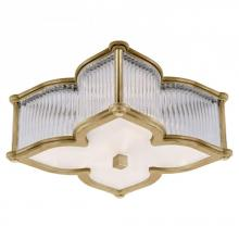 Visual Comfort AH 4018NB/CG-FG - Lana Small Flush Mount in Natural Brass and Clea