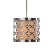 Uttermost 22047 - Uttermost Harwich 1 Light Brushed Nickel Mini Pendant