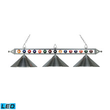 ELK Lighting 190-1-SN-M-LED - Designer Classics 3 Light LED Billiard In Satin