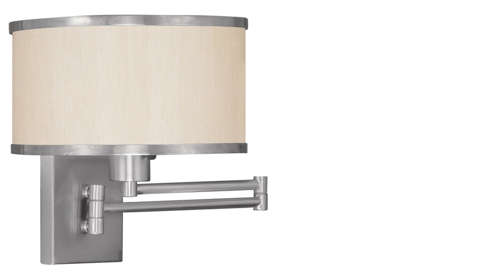 1 Light BN Swing Arm Wall Lamp
