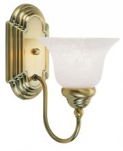 Livex Lighting 1001-01 - 1 Light Antique Brass Bath Light
