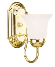 Livex Lighting 1071-02 - 1 Light Polished Brass Bath Light