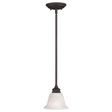 Livex Lighting 1340-07 - 1 Light Bronze Mini Pendant