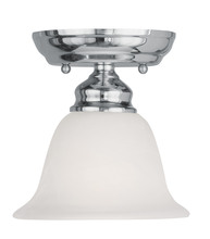 Livex Lighting 1350-05 - 1 Light Polished Chrome Ceiling Mount