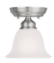 Livex Lighting 1350-91 - 1 Light Brushed Nickel Ceiling Mount