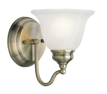 Livex Lighting 1351-01 - 1 Light Antique Brass Bath Light