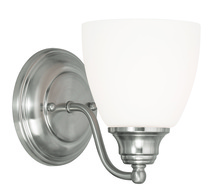 Livex Lighting 13671-91 - 1 Light Brushed Nickel Wall Sconce