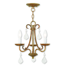 Livex Lighting 40873-48 - 3 Light AGL Mini Chandelier