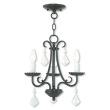 Livex Lighting 40873-92 - 3 Light English Bronze Mini Chandelier