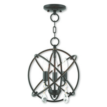 Livex Lighting 40903-92 - 3 Light EBZ Mini Chandelier/Flush Mount