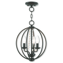 Livex Lighting 40913-92 - 3 Light EBZ Mini Chandelier/Flush Mount