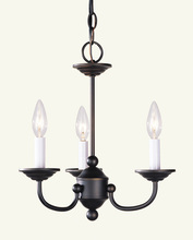 Livex Lighting 4153-07 - 3 Light Bronze Mini Chandelier