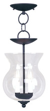 Livex Lighting 4393-04 - 2 Light Black Chain Hang/Ceiling Mount