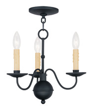 Livex Lighting 4493-04 - 3 Light Black Mini Chandelier