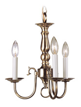 Livex Lighting 5013-01 - 3 Light Antique Brass Mini Chandelier