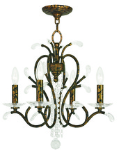 Livex Lighting 51004-71 - 4 Light VBR Mini Chandelier