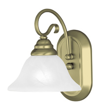 Livex Lighting 6101-01 - 1 Light Antique Brass Bath Light