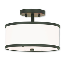 Livex Lighting 62626-07 - 2 Light Bronze Ceiling Mount