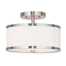 Livex Lighting 62626-91 - 2 Light Brushed Nickel Ceiling Mount