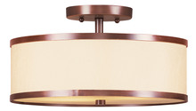 Livex Lighting 6343-70 - 2 Light Vintage Bronze Ceiling Mount