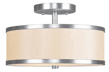 Livex Lighting 6343-91 - 2 Light Brushed Nickel Ceiling Mount