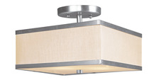 Livex Lighting 6347-91 - 2 Light Brushed Nickel Ceiling Mount