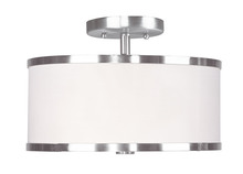 Livex Lighting 6366-91 - 2 Light Brushed Nickel Ceiling Mount