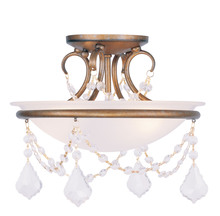 Livex Lighting 6523-48 - 2 Light Antique Gold Leaf Ceiling Mount