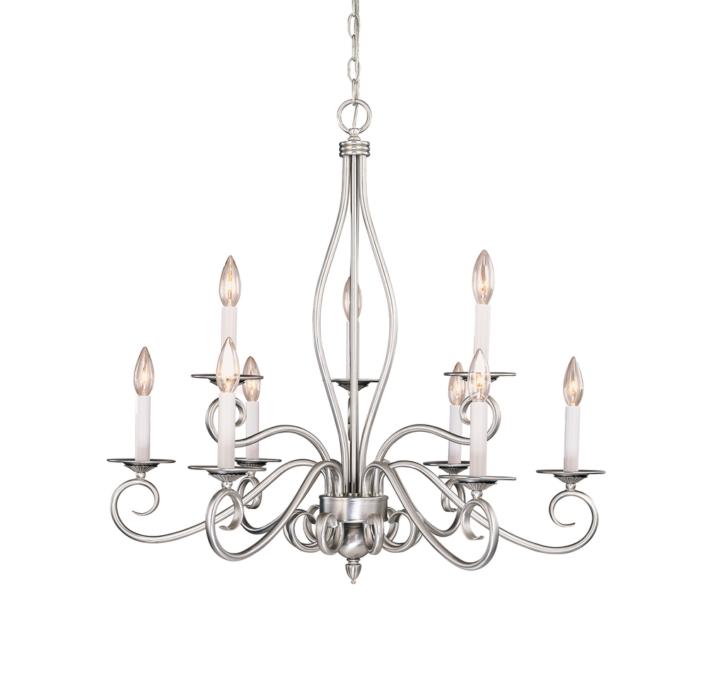 Champions Lighting in Houston, Texas, United States,  1CNFL, Polar 9 Light Chandelier, Polar