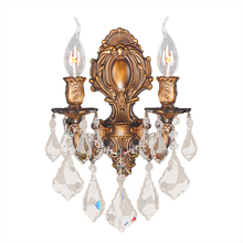 Worldwide Lighting Corp W23313P12 - Versailles Collection 2 Light Pewter Finish with Clear Crystal Wall Sconce